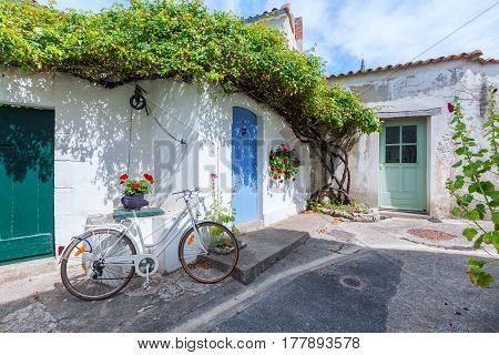 Alley is Ars en Re, Charente Martime, France