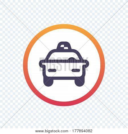 taxi, cab, car line icon, vector illustration