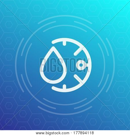 humidity line icon, linear pictogram, vector sign