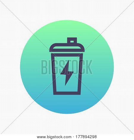 Sport shaker linear icon, sign, vector illustration