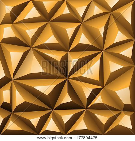 Gold background abstract polygon. Stock Illustration. EPS 10