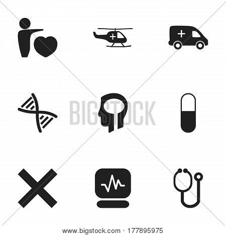 Set Of 9 Editable Health Icons. Includes Symbols Such As Human Love, Doctor Tool, No Check And More. Can Be Used For Web, Mobile, UI And Infographic Design.