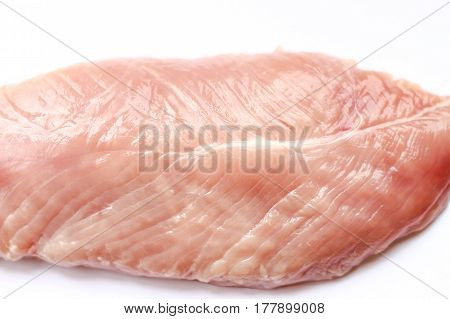 Raw Chicken Fillet Isoalted On White Background
