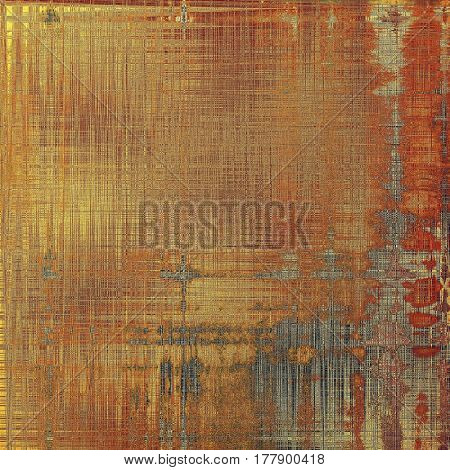 Vintage texture, old style frame decoration with grunge graphic elements and different color patterns: yellow (beige); brown; gray; red (orange)