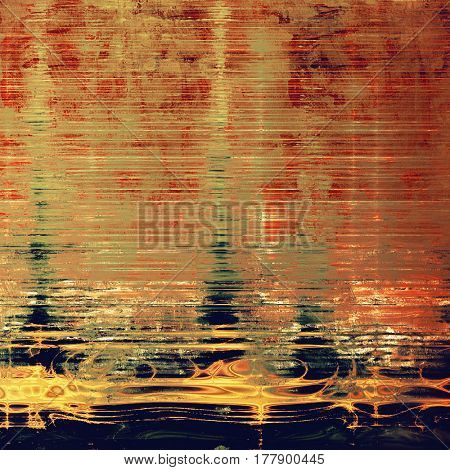 Vintage textured background. With different color patterns: yellow (beige); brown; green; blue; red (orange)