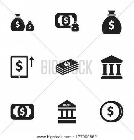 Set Of 9 Editable Investment Icons. Includes Symbols Such As Holdall, Treasure, Salary And More. Can Be Used For Web, Mobile, UI And Infographic Design.