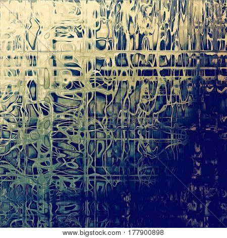 Scratched vintage texture, grunge style frame or background. With different color patterns: yellow (beige); blue; gray; cyan
