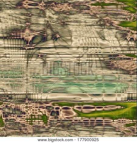 Art grunge background or vintage style texture with retro graphic elements and different color patterns: yellow (beige); brown; green; gray; cyan