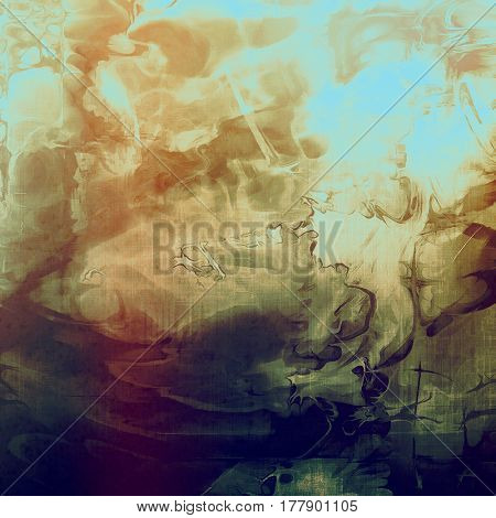 Vintage texture. With different color patterns: yellow (beige); brown; green; blue; purple (violet); cyan