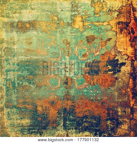 Vintage spotted textured background. With different color patterns: yellow (beige); brown; green; blue; red (orange)