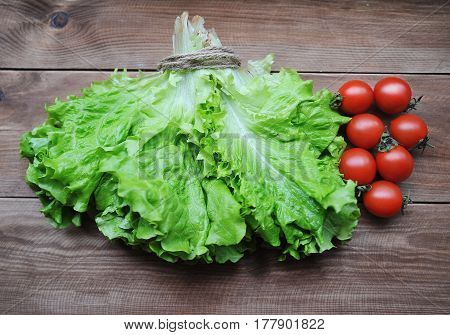 A fresh vegetables on a wooden background