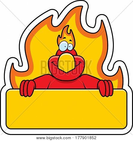 Cartoon Phoenix Sign