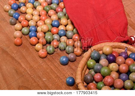 Clay Marbles (balls). Retro Toys. Vintage Toys. Shoot (roll/play) Marbles