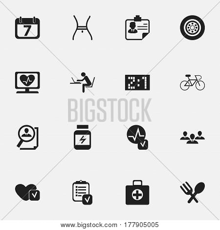 Set Of 16 Editable Complicated Icons. Includes Symbols Such As Group, Soul, Identification And More. Can Be Used For Web, Mobile, UI And Infographic Design.