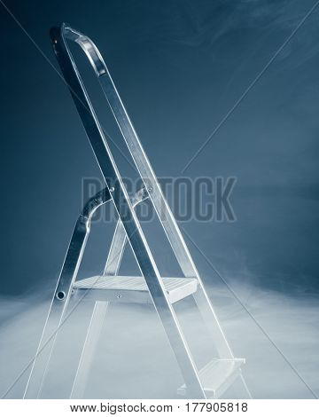 folding ladder in smoke