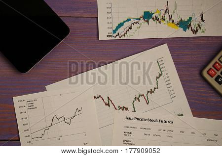 Stock Quotes And Charts On Paper