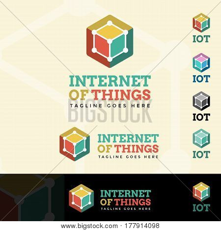 Internet Of Things Logotype and Tagline. Vector template.