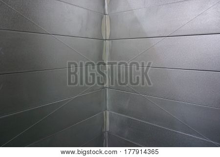 stack of aluminum angle shape in the factory