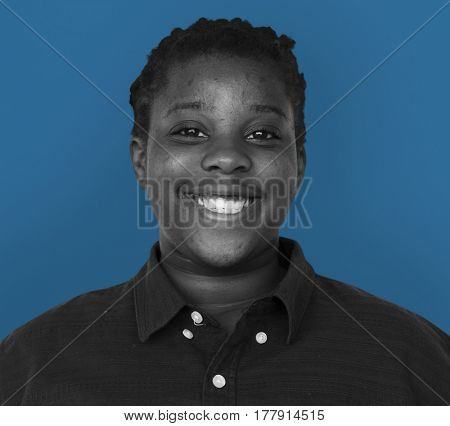 Woman close up and posing for photoshoot