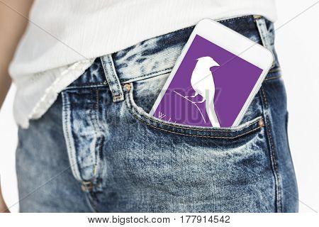 Animal Wildlife Word with Bird Graphic