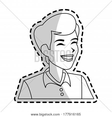 happy androgynous  man icon image vector illustration design