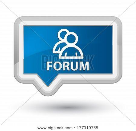Forum (group Icon) Prime Blue Banner Button
