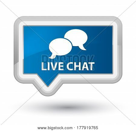 Live Chat Prime Blue Banner Button