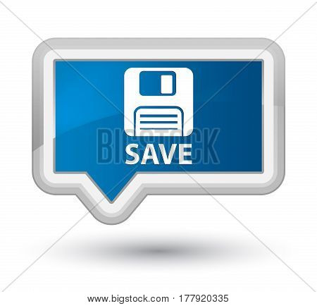 Save (floppy Disk Icon) Prime Blue Banner Button