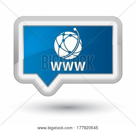 Www (global Network Icon) Prime Blue Banner Button