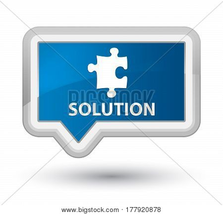 Solution (puzzle Icon) Prime Blue Banner Button