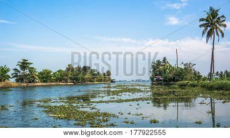 Beautiful Backwater Travel Destinations Of Kerala, India.