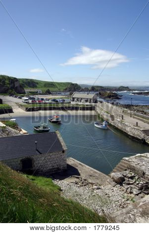 Harbour At Ballintoy