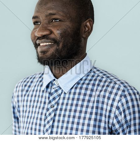 African Descent Guy Isolated on Background