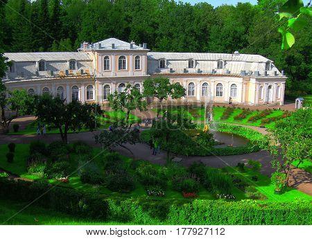 St. Petersburg Russia July 11 2016 Museum complex in the summer garden fountain sculpture editorial