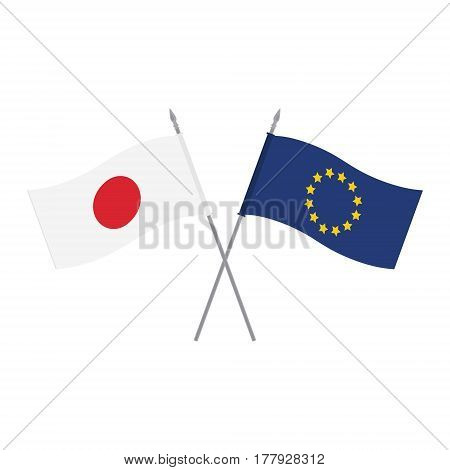 Eu And Japan Flags