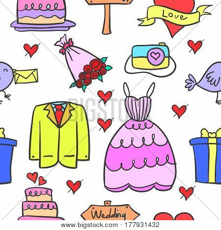 Collection stock of wedding element style design vector art