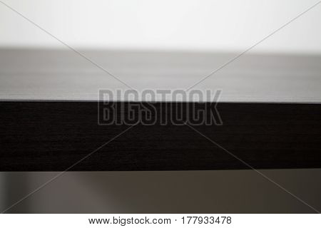 A clear view of a tabletop on a white background