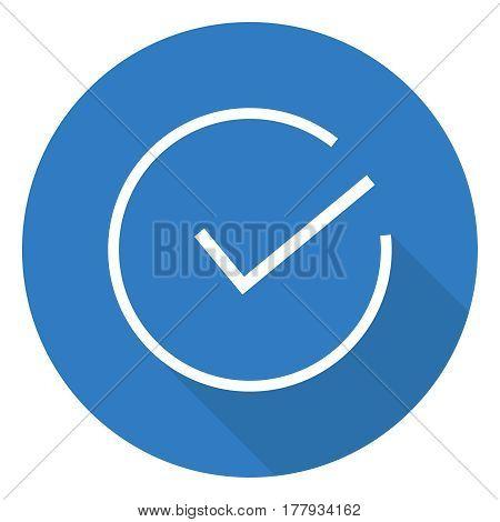 Tick of approval. Flat design vector illustration vector.
