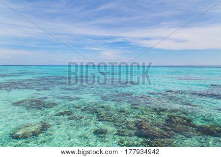 Rok island seascape at Krabi Thailand .