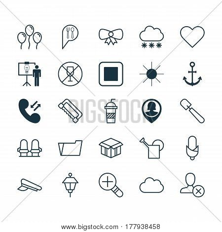 Set Of 25 Universal Editable Icons. Can Be Used For Web, Mobile And App Design. Includes Elements Such As Alcohol Forbid, Cop Cap, Solution Demonstration And More.