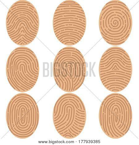 Fingerprints icon. Flat design vector illustration vector.