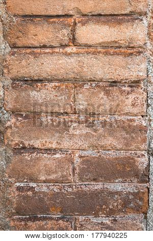 Old stone blocks wall for vintage background or texture