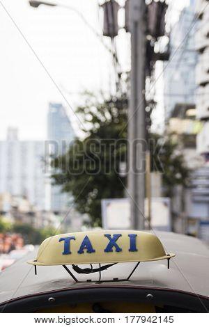 Tuk Tuk Cab At Bangkok