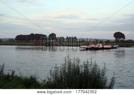 Ferry Over The River Maas