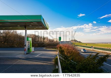 Petrol Station On The Motorway