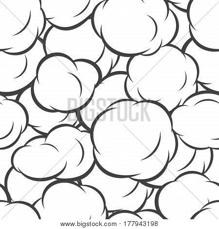 Bubbles seamless pattern. Pop art abstract background. Vector illustration in cartoon style design for textile, wallpaper, web, fabric