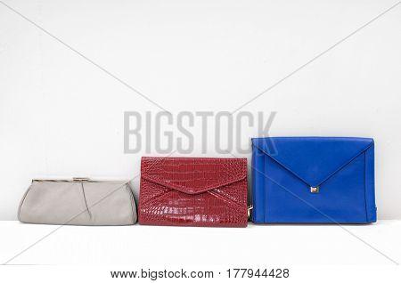 Three leather Women's handbag