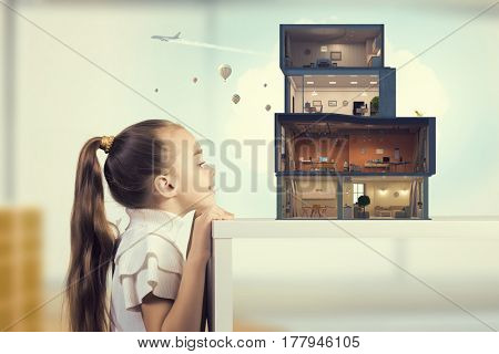 Design of your dream house. Mixed media . Mixed media