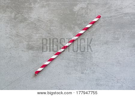 Red And White Striped Drinking Straw