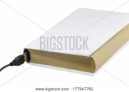 Blank Book Connected To Usb